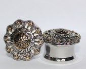 "Vintage Silver And Gold Plugs OOAK 3/4"" 19mm"