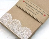 Set of 25 White Lace Favor Bags - Weddings, Showers, gift wrap, treat bags - SMALL