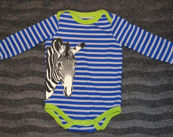 Zebra Striped Onesie