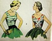 Vintage Simplicity 4350 Sleeveless Top Pattern Bust 32