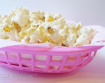 Pink Food Basket - Food Tray - RETRO Style Burger Basket