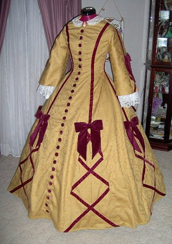 1840-1850s Dickens Victorian Costuming for Women FOR ORDERS ONLY - Custom Made - 1800s Victorian Dress 1860s Civil War Gown - Wedding Bridal Tea Reenactor $500.00 AT vintagedancer.com