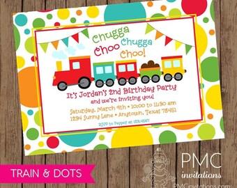 Train Birthday Invitations - 1.00 each with envelopes