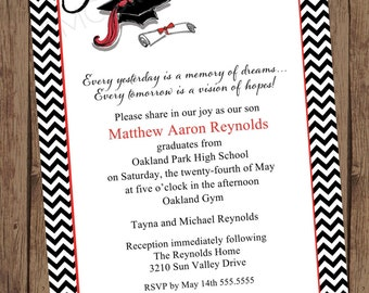 Graduation Invitations - 1.00 each with envelope