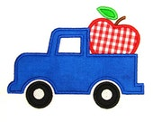 Machine Embroidery Design Applique Apple Truck INSTANT DOWNLOAD