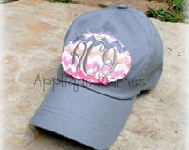 Machine Embroidery Design Applique Mini Raggy Oval Patch and Hat Tutorial INSTANT DOWNLOAD