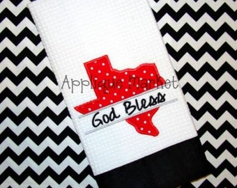 Machine Embroidery Design Applique Texas Split State INSTANT DOWNLOAD