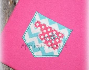Machine Embroidery Design Applique Appli-Pocket 1 Oklahoma INSTANT DOWNLOAD