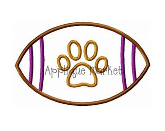 Machine Embroidery Design Applique Football Paw INSTANT DOWNLOAD