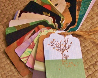 Upcycled Holiday Gift Tags - Happy Harvest