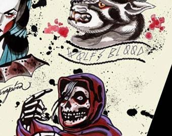 halloween tattoo flash danzig misfits samhain second edition of 20