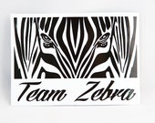 Team Zebra Ref Roller Derby Helmet / Car / Vinyl Sticker / Bumper Sticker