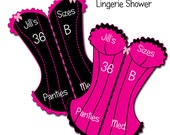 Lingerie Shower Personalized Frilly Corset Inserts C-453 Digital Download  Personalized for Showers, Wedding, Birthday or Bachelorette