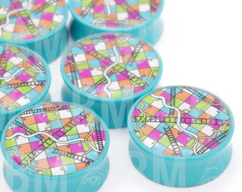 """11/16"""" (18mm) Snakes & Ladder BMA Plugs Pair"""