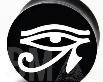 "7/16"" (11mm) Eye of Horus BMA Plugs Pair"