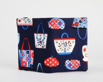 Card holder - Totes and bags on navy