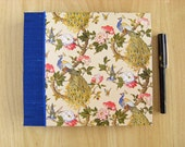 Peacock Wedding Guest Book Album Handmade with French Stitch binding