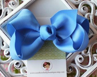 NEW ITEM------Boutique Large Hair Bow Clip-----Carolina Blue