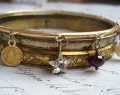 Star of Heaven - Vintage Assemblage Bangle Bracelet Set
