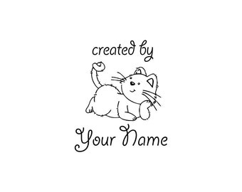 Personalized Custom Made Name Unmounted Rubber Stamps C16