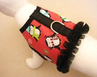 Holiday Winter Penguin Dog Harness Vest