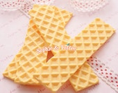 Big Detailed Wafer Resin Cabochon / Decoden Pieces / Decoden Cabochon - 2pcs