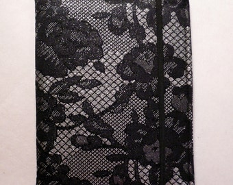 Kindle cover Hardcover, Kindle Fire Cover,  eReader Cover,  Book Style, Black Lace