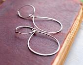 Hoop Earrings Convertible, Interchangeable to Chandelier Earrings