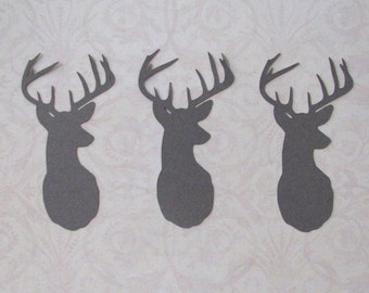 deer head die cut embellishments  set of 6 in any color