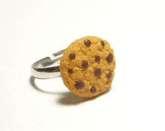 Cookie with Chocolate Chips Ring - Miniature Food Jewelry