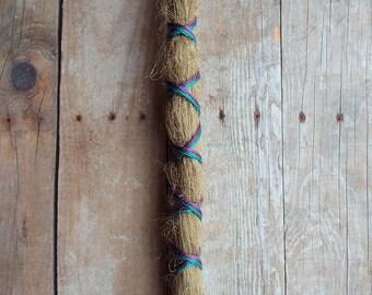1 Custom Standard *Clip-in X-Cross Synthetic Dreadlock Extension Boho Dread Hair Wrap