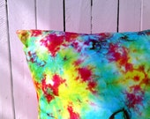 Cushion Large hand dyed Handmade cushion 23 inches. 58 cm Throw Pillow