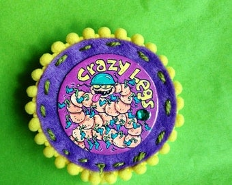 Crazy Legs Pog pin and Hair clip