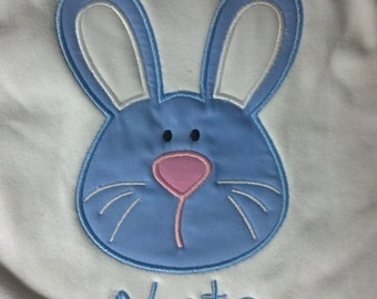 Boutique Custom Personalized Easter Bunny Boys Shirt
