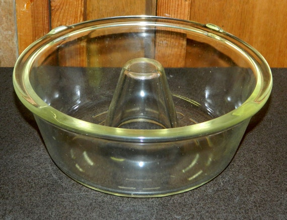 Cake Pan Glasbake Bundt Tube Angel Food Angelfood Mckee Clear
