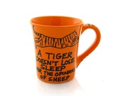 Inspirational mug - funny office gift - bosses day - circus quote - Men's gift - gifts under 15 - eye of the tiger - oversized mug