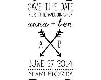 Arrow Save the Date stamp