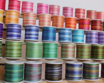 Your choice - 20 metres of 2mm variegated colour silk ribbon