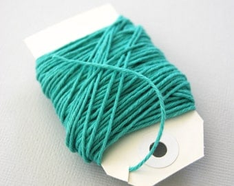 Solid Caribbean Teal Twine 15 yards
