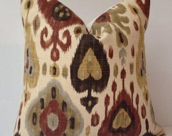 Ikat Pillow Cover Brown Pillow Decorative Throw Pillow Cushion Accent Pillow