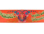 Truth Love & Beauty - Vintage Peter Max Illustration, AMC Hornet Bumper Sticker, Super Rare Car Dealership Giveaway, Psychedelic Art
