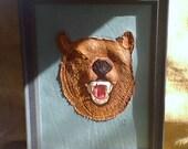 """Sculptured Handmade 3D LEATHER  ART  """"BEAR"""""""