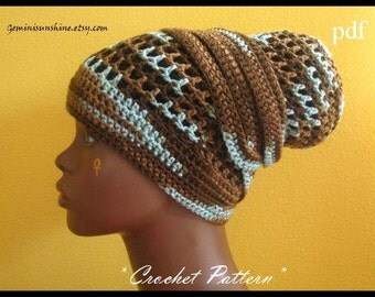 Gemini Sunshine Crochet Head Wrap Pattern Only - PDF - Permission to sell. Lots of pictures!