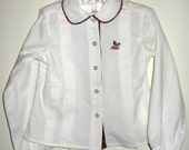 Izod Toddler Blouse Vintage Size 4T Baby Girl Boutique Fashion