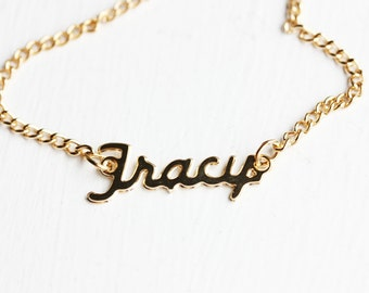Vintage Name Necklace - Tracy