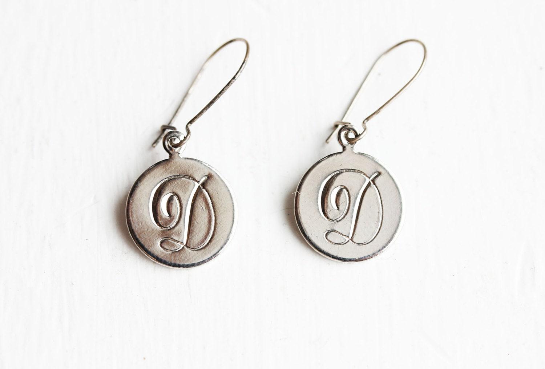 sample sale letter d monogram earrings by diamentdesigns With letter d earrings