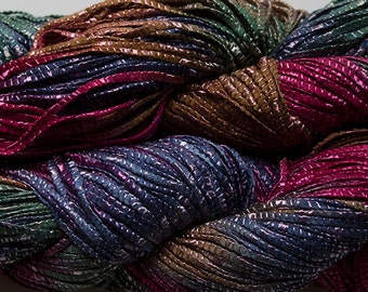 Hand dyed yarn, Bamboo Tape Ribbon - Renaissance