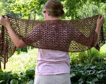 Pattern - Crochet Bamboo Lace Shawl