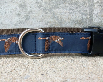 Flying Geese Dog Collar, In M, L, XL