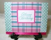7274:Happy Birthday, single greeting card